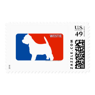 Westie Major League Dog Stamp