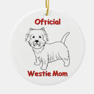 Westie Mom Ceramic Ornament