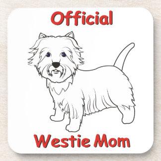 Westie Mom Coasters