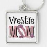 Westie MOM Key Chain