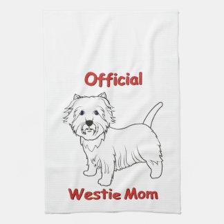 Westie Mom Towels