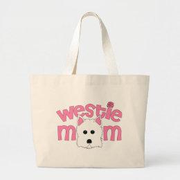Westie Mom Large Tote Bag
