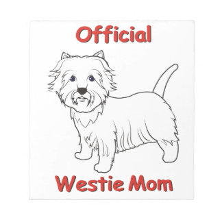 Westie Mom Note Pad