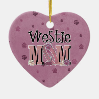 Westie MOM Ornaments