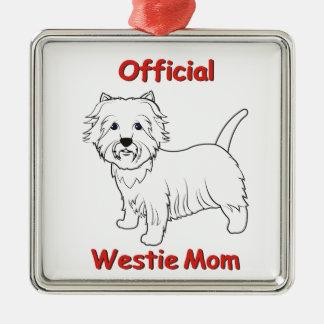 Westie Mom Ornaments
