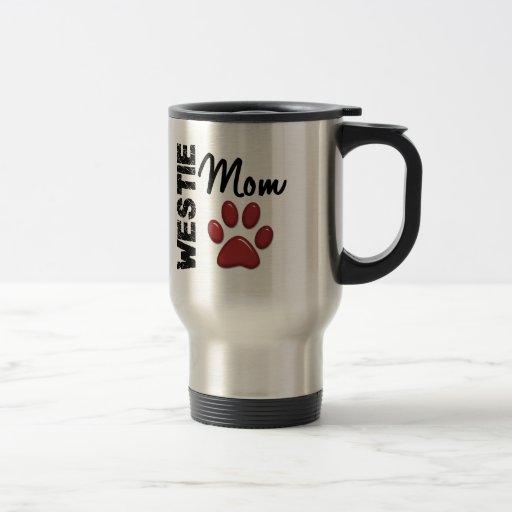 Westie Mom Paw Print 2 15 Oz Stainless Steel Travel Mug
