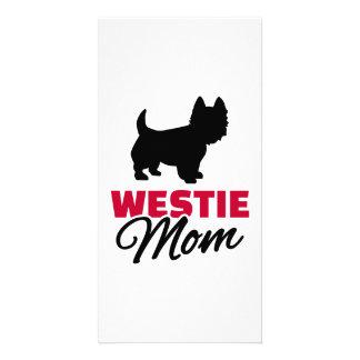 Westie mom photo cards