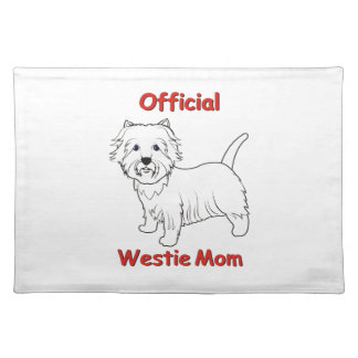 Westie Mom Place Mats