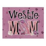 Westie MOM Postcard