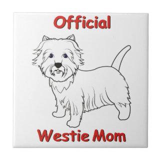 Westie Mom Tile