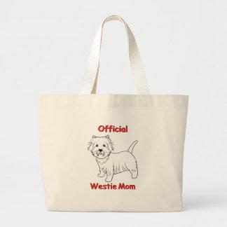 Westie Mom Tote Bags