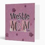 Westie MOM Vinyl Binder