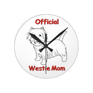 Westie Mom Wall Clocks