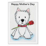 Westie Mother's Day card mum nana mummy