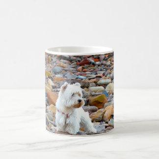 Westie on the Rocks Classic White Coffee Mug