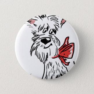 westie or scottie? pinback button
