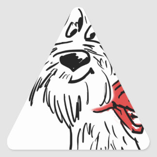 westie or scottie? triangle sticker