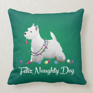 Feliz Naughty Dog Pillow Picture