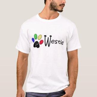 Westie Paw Print Digital Art T-Shirt
