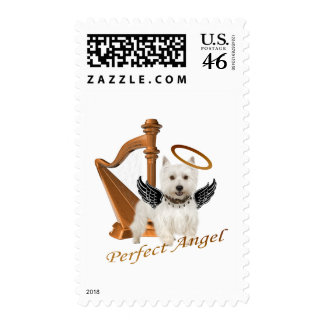 Westie Perfect Angel Postage Stamp