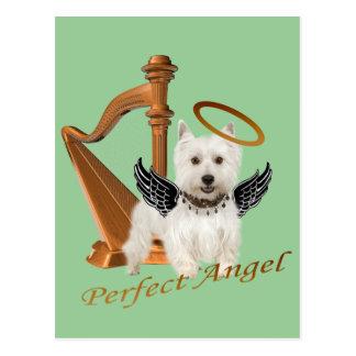 Westie Perfect Angel Postcard