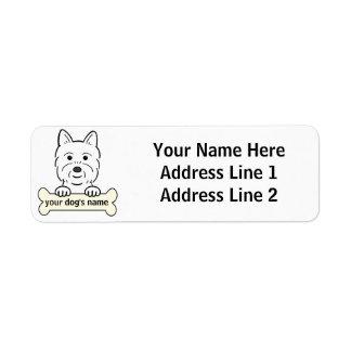 Westie personalizado etiqueta de remitente