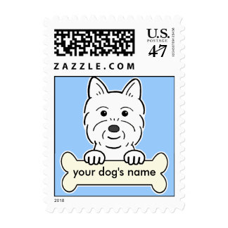 Westie personalizado sellos postales