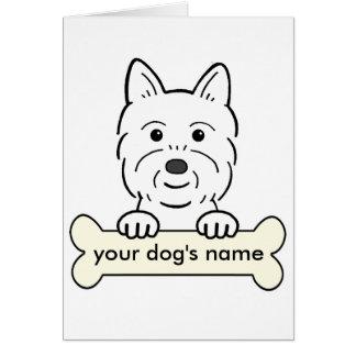 Westie personalizado tarjeta de felicitación