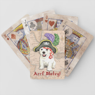 Westie Pirate Bicycle Playing Cards