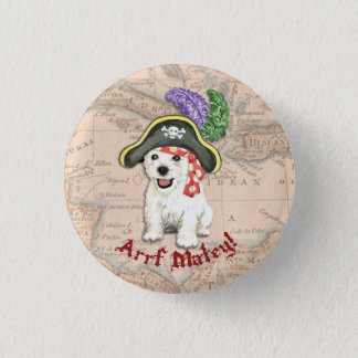 Westie Pirate Pinback Button