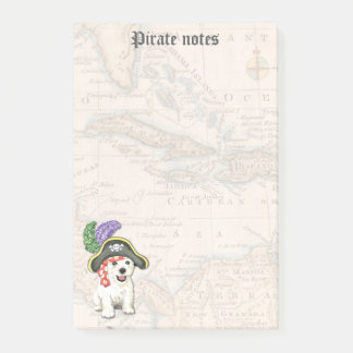 Westie Pirate Post-it Notes