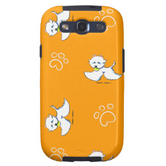 Westie Playtime Off-Leash Art™ Samsung Galaxy SIII Case