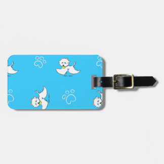 Westie Playtime Off-Leash Art™ Luggage Tag