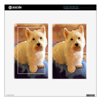 WESTIE POSE DECAL FOR KINDLE FIRE