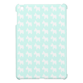 Westie Prints with Sky Blue Background iPad Mini Covers