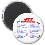WESTIE Property Laws 2 2 Inch Round Magnet