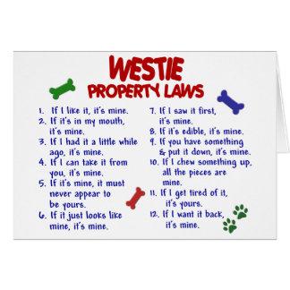WESTIE Property Laws 2 Card