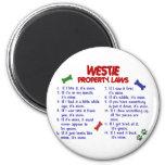 WESTIE Property Laws 2 Fridge Magnets