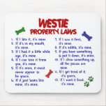 WESTIE Property Laws 2 Mouse Mats