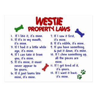 WESTIE Property Laws 2 Postcard
