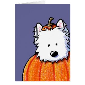 Westie Punkin' Card