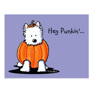 Westie Punkin' Postcard