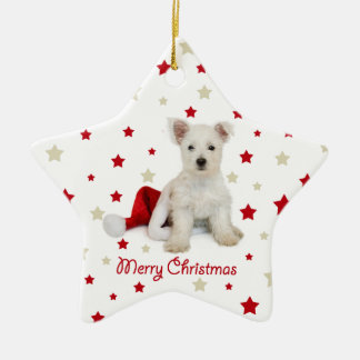 Westie Pup Christmas Tree Ornament
