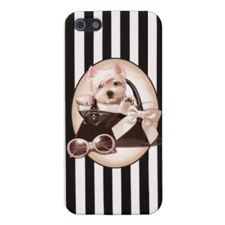 Westie Puppy and Handbag iPhone 5/5S Cover