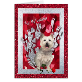 Westie Puppy Be My Valentine GreetingThird Version Card