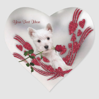 Westie Puppy Customizable Valentine Stickers