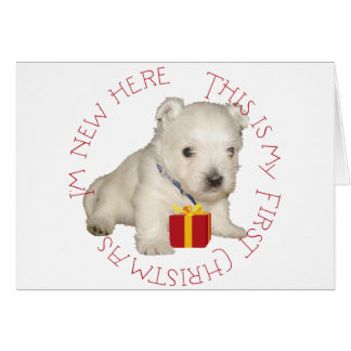 Westie Puppy First Christmas Greeting Card