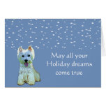 Westie Puppy Holiday Card