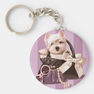 Westie puppy in Handbag Key Chain