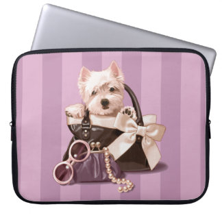 Westie puppy in Handbag Computer Sleeve